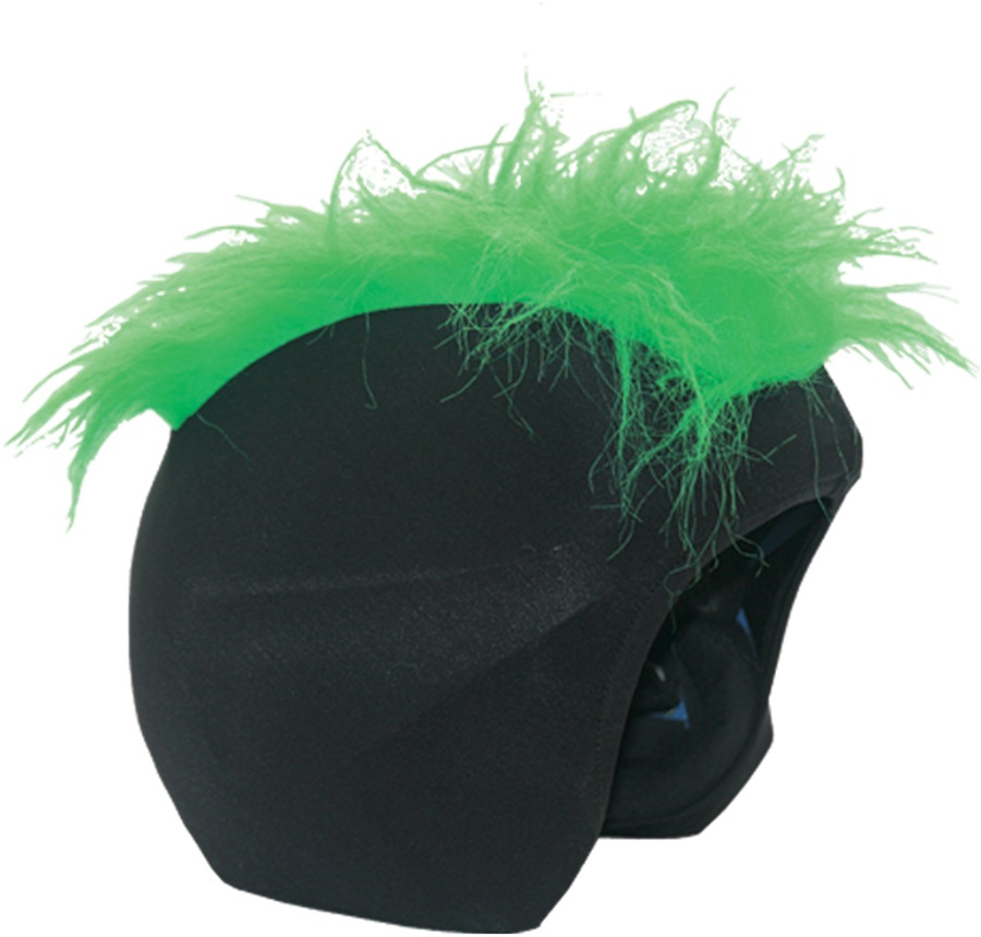 Coolcasc Show Time Ski/Snowboard Helmet Cover, One Size, Furry Green