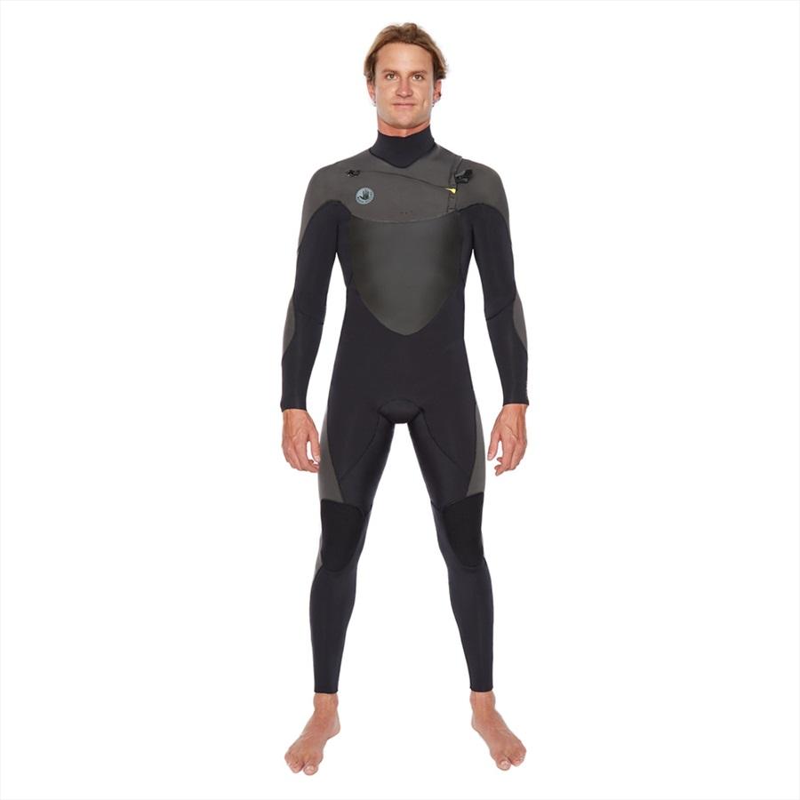 Body Glove Siroko 3/2 Slant Zip Full Surfing Wetsuit, MS Black