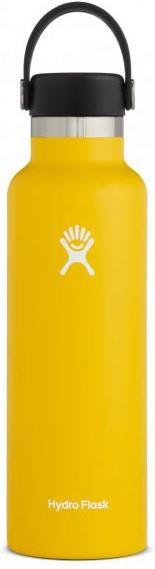 Hydro Flask 21oz Standard Mouth With Flex Cap Water Bottle, 21oz Sunflower