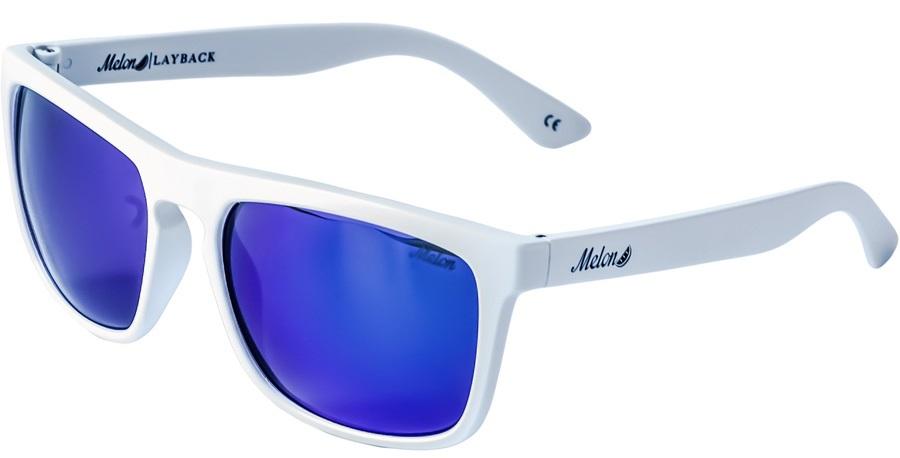 Melon Layback 2.0 Blue Chrome Polarized Sunglasses, Snow
