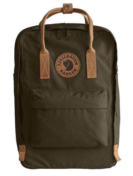 """Fjallraven Kanken No.2 Laptop 15"""" Backpack, 18L Dark Olive"""