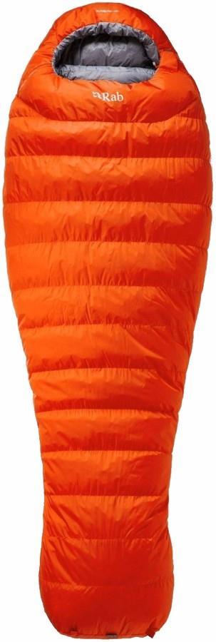 Rab Alpine Pro 800 Lightweight Down Sleeping Bag, Firecracker LH Zip