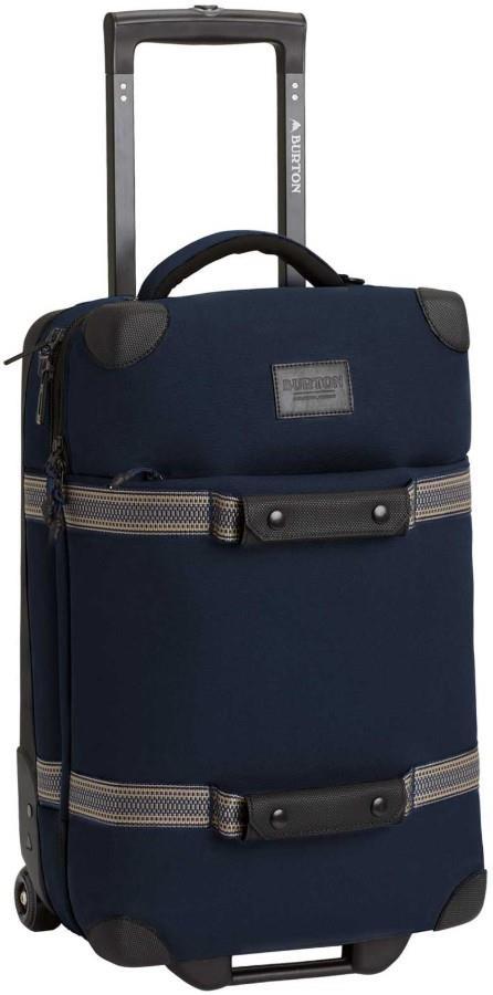 Burton Wheelie Flight Deck Travel Bag, 38L Dress Blue Waxed
