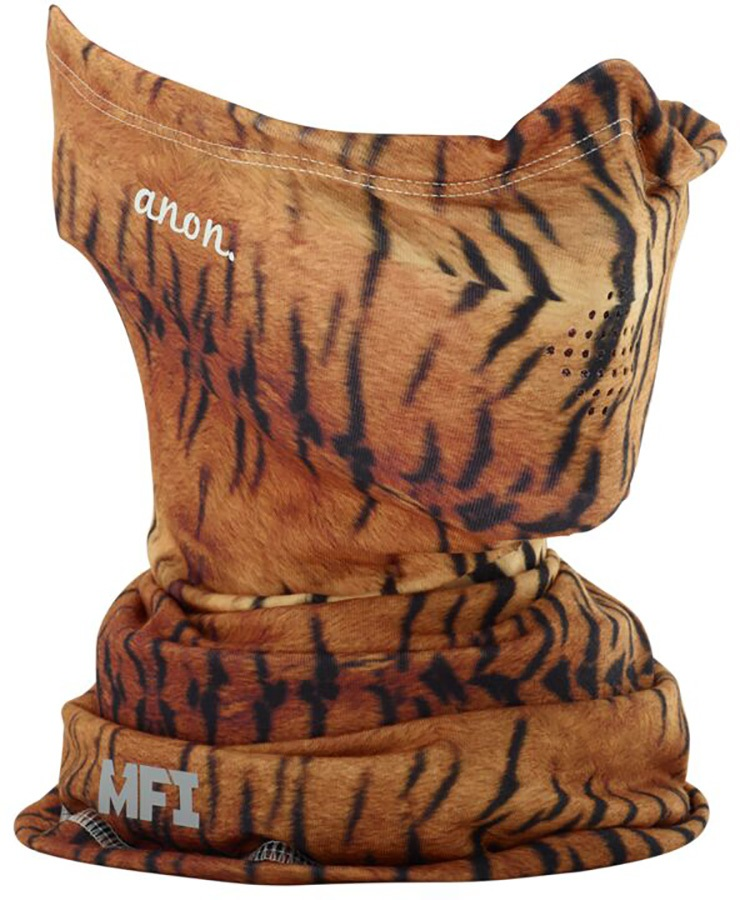 Anon Lightweight Neckwarmer Women's MFI Facemask, Relaxed Fit Tiger