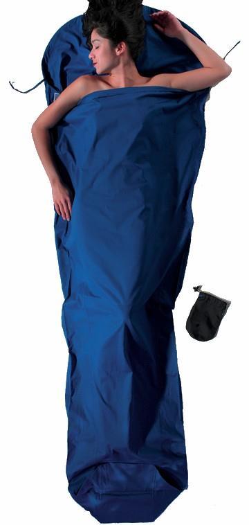 Cocoon MummyLiner Cotton Lightweight Sleeping Bag Liner, Ultramarine