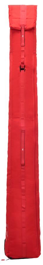 Douchebags The Slim Jim Wheelie Ski Bag, 216cm Scarlet Red