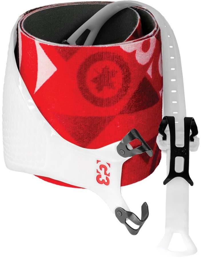 G3 Alpinist Universal 130mm Climbing Skins Pair, Large Red/White