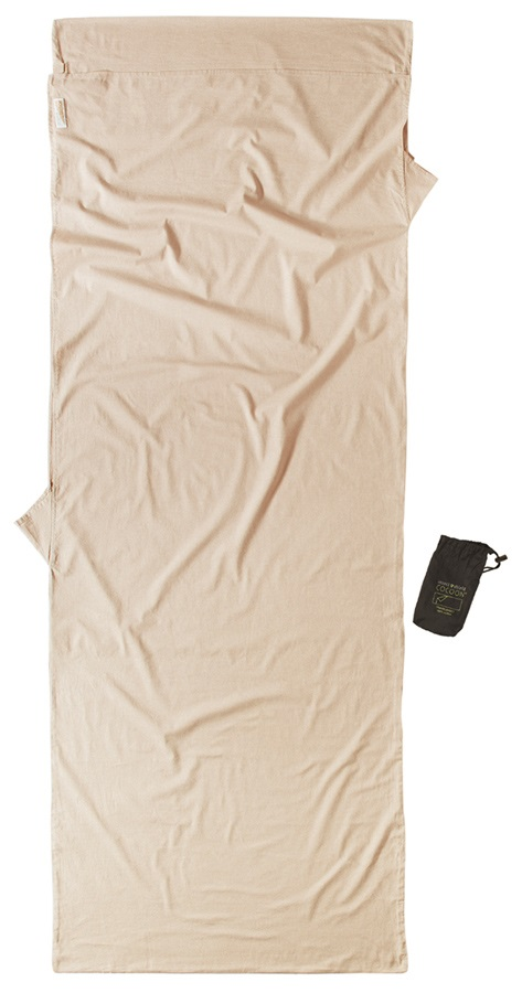 Cocoon Insect Shield TravelSheet Egypt. Cotton Sleeping Bag Liner Sand