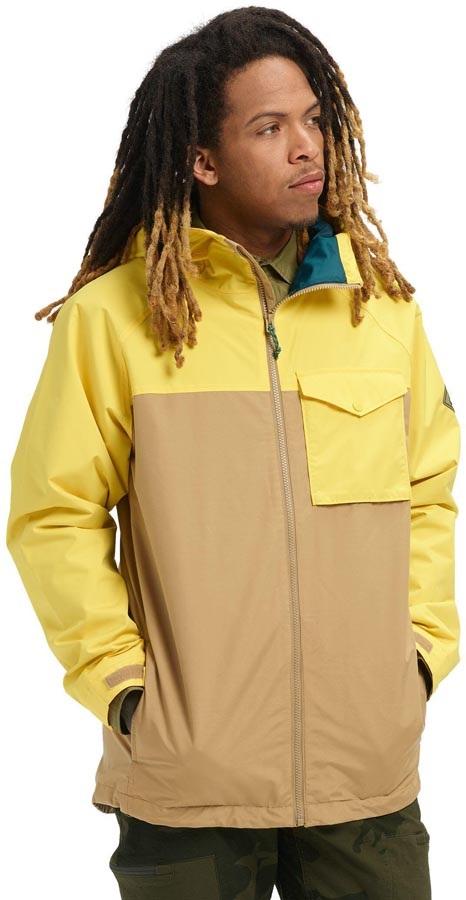 Burton Portal Waterproof Rain Jacket, M Kelp/Maize