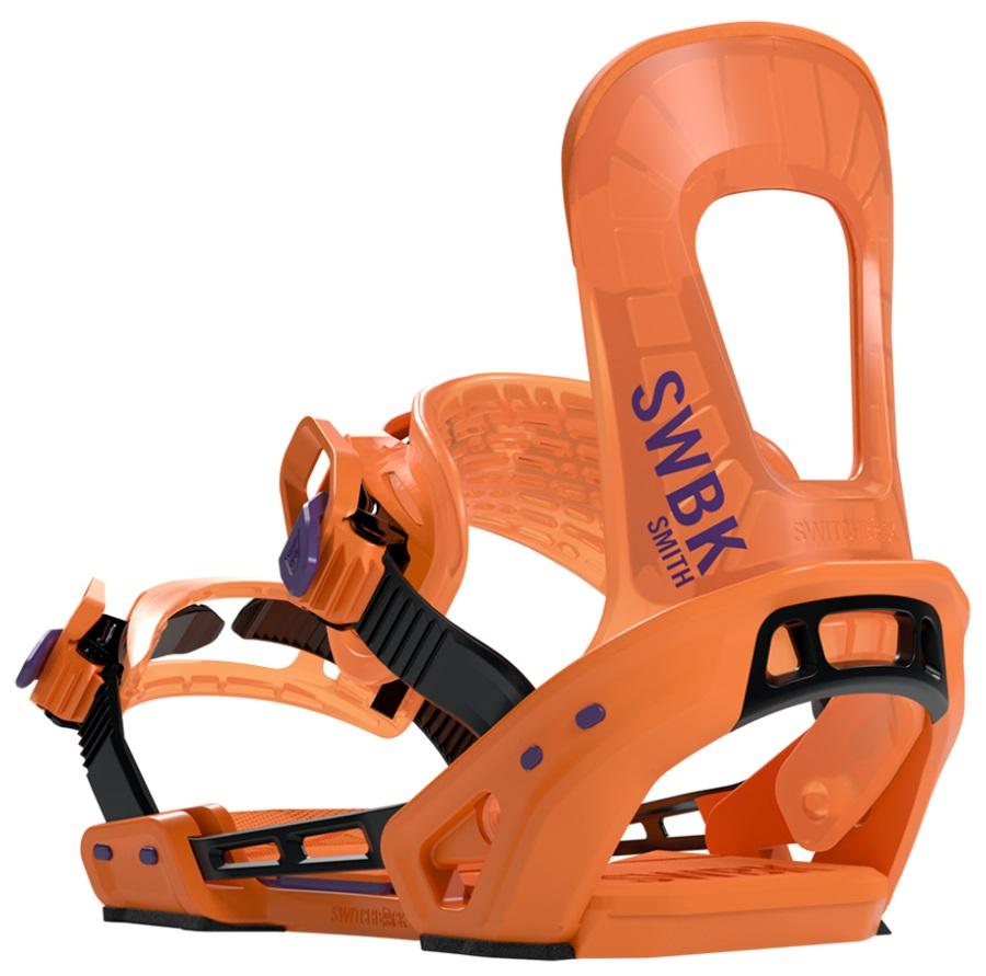 Switchback Adult Unisex Smith Snowboard Binding, XS-M Orange 2020