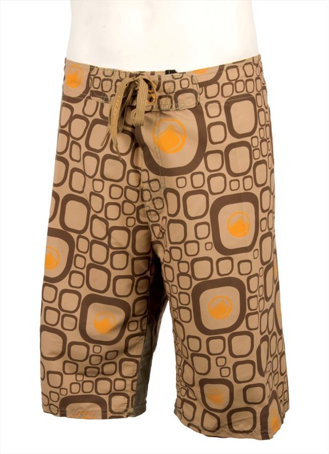 """Liquid Force Fred Board Shorts, M-L 34"""" / 86cm Waist Brown"""