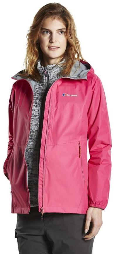Berghaus Deluge Light Shell Women's Waterproof Jacket, UK 8 Pink