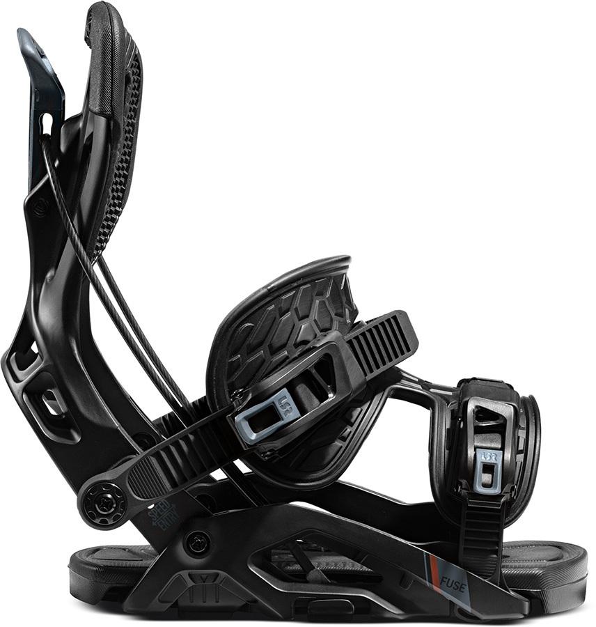 Flow Fuse Fusion Step In Snowboard Bindings, L Black 2021