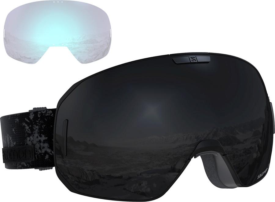Salomon S/Max Black, Solar Black Snowboard/Ski Goggles, M/L