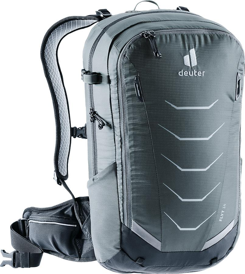 deuter Flyt 14 Cycling Back Protector Backpack, 14L Graphite/Black