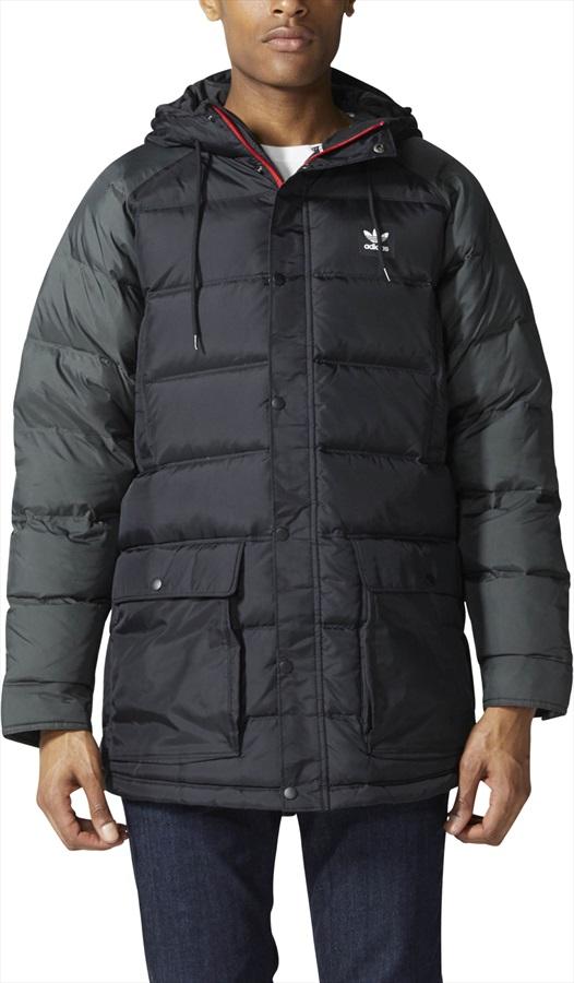Adidas Down Insulated Jacket, M Black/Utility Black/Scarlet