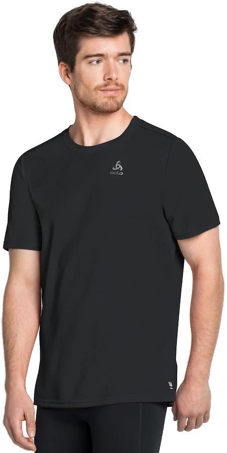 Odlo F-Dry T-Shirt Men's Short Sleeve Technical Sports Top, XL Black