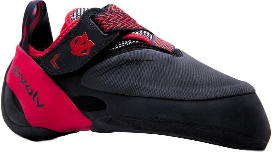 Evolv Agro Rock Climbing Shoe, UK 6   EU 39.5 Black Red Ex Display