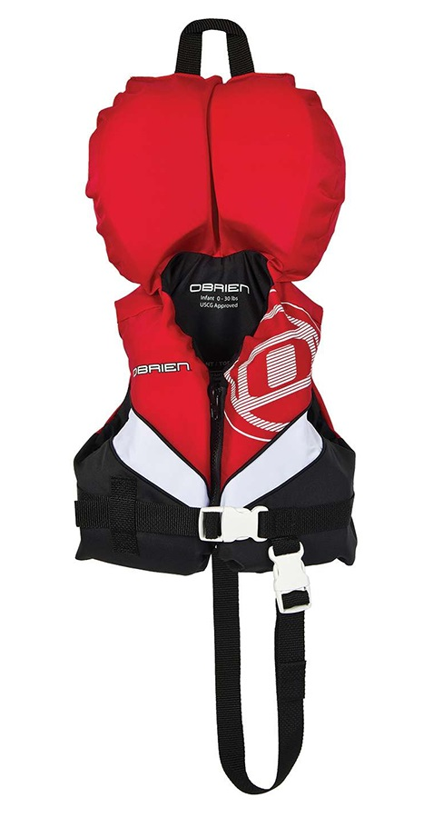 O'Brien Kids Nylon Buoyancy Aid Jacket With Collar Infant Red