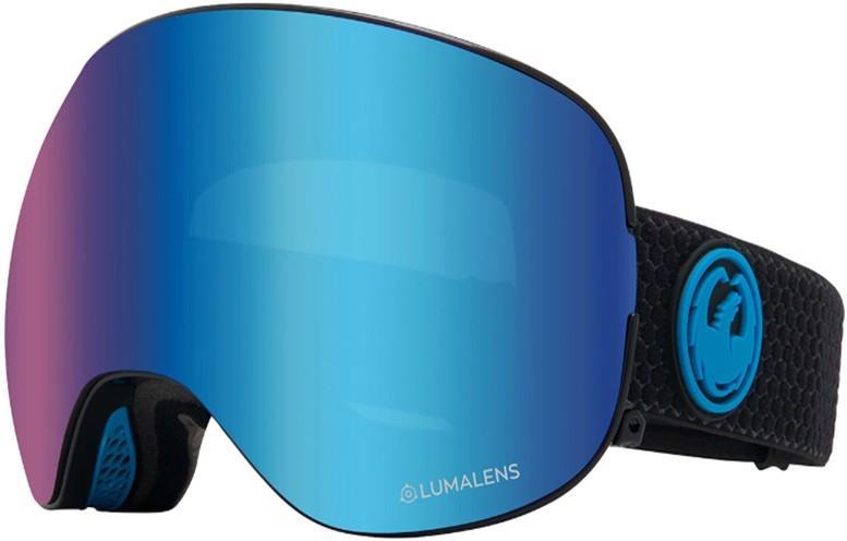 Dragon X2 LumaLens Blue Ion Snowboard/Ski Goggles, L Split