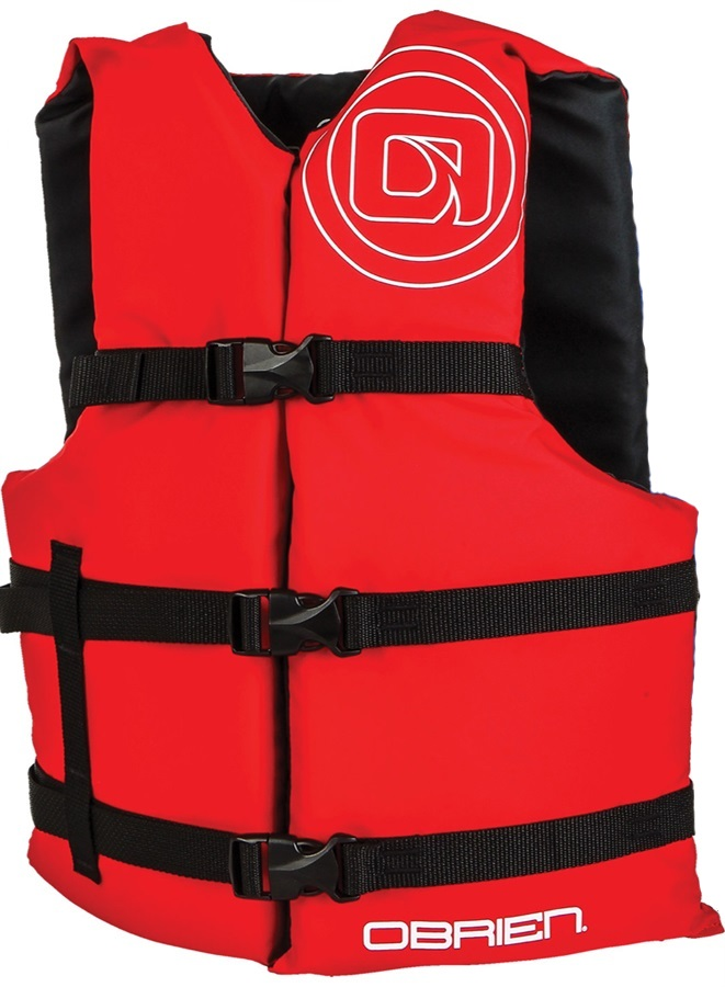 O'Brien Universal Watersports Vest Buoyancy Aid Single, One Size Red
