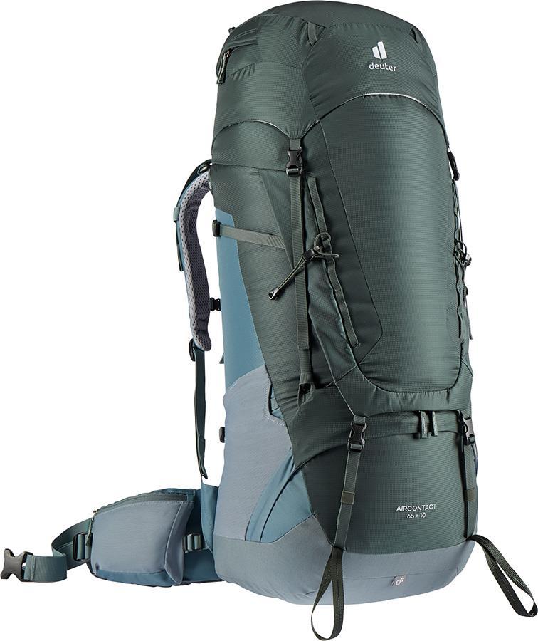 Deuter Aircontact 65 + 10 Trekking Backpack, 65L Ivy/Teal