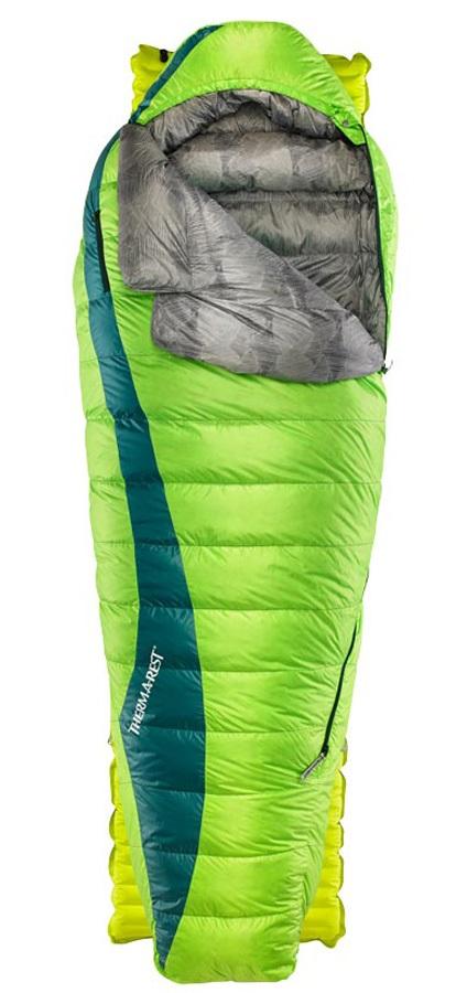 ThermaRest Questar HD Down Sleeping Bag, Regular Gemini Green