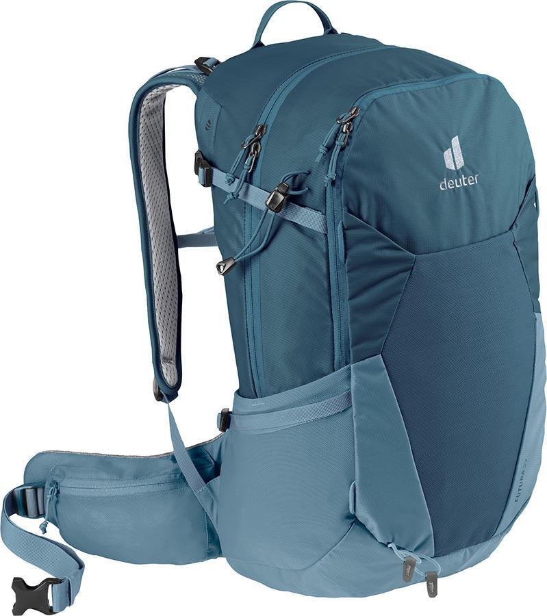 deuter Futura 27 Daypack Hiking Backpack, 27L Arctic/Slate Blue