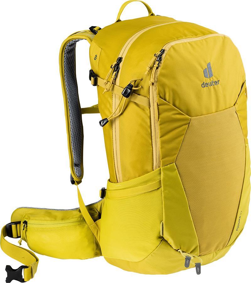 deuter Futura 27 Daypack Hiking Backpack, 27L Turmeric/Green Curry