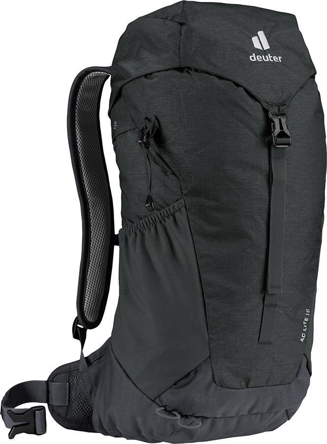 Deuter AC Lite 16 Daypack Hiking Backpack, 16L Black/Graphite