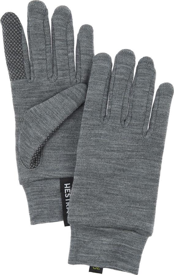 Hestra Merino Touch Point Ski/Snowboard Liner Gloves, L Grey