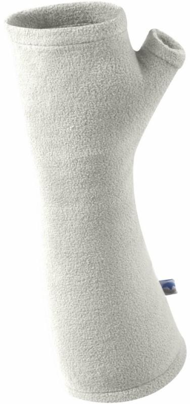 Manbi MicroFleece Wrist Warmers, S/M Winter White