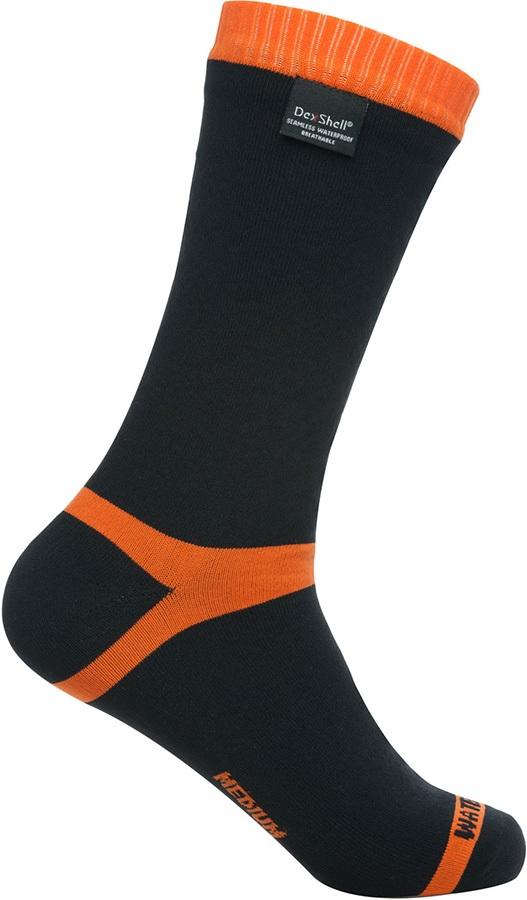 DexShell Hytherm Pro Waterproof Socks, UK 3-5 Tangelo Red Stripe