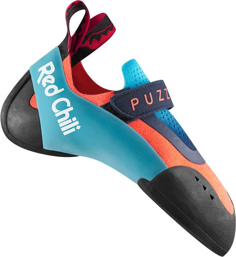 Red Chili Puzzle Kids Rock Climbing Shoe, UK 4 | EU 37 Neon Coral