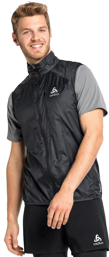 Odlo Zeroweight Vest Men's Running Gilet Jacket, M Black