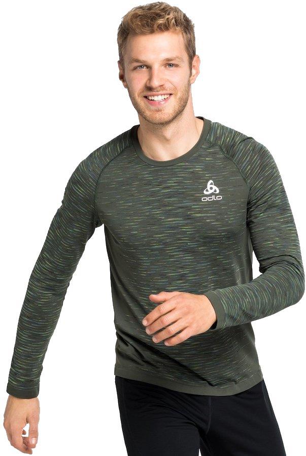 Odlo Blackcomb Ceramicool Long Sleeve Running T-Shirt XL Climbing Ivy