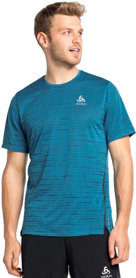 Odlo Zeroweight Engineered Chill-Tec Running T-Shirt, L Mykonos Blue
