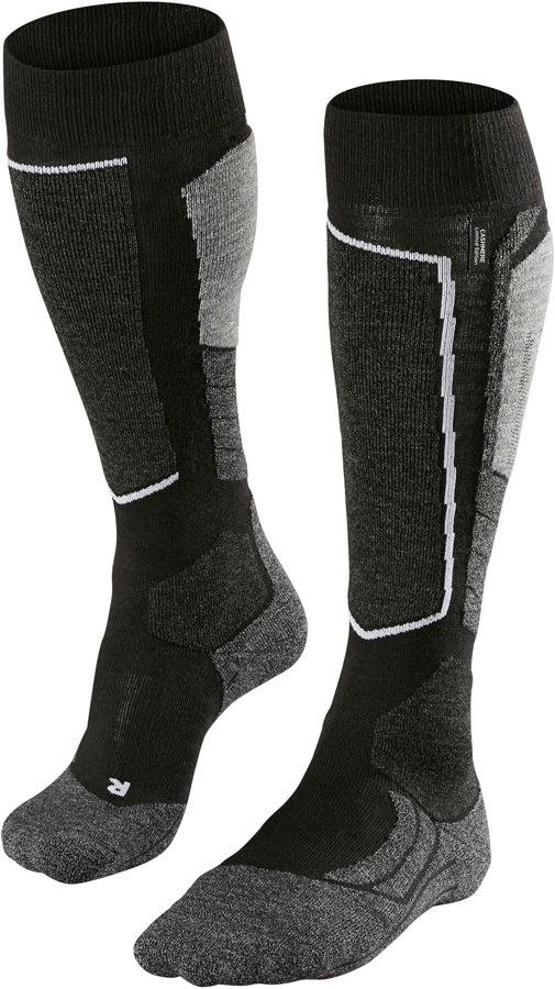 Falke SK2 Merino Wool Ski Socks UK 11-12.5 Black-Mix