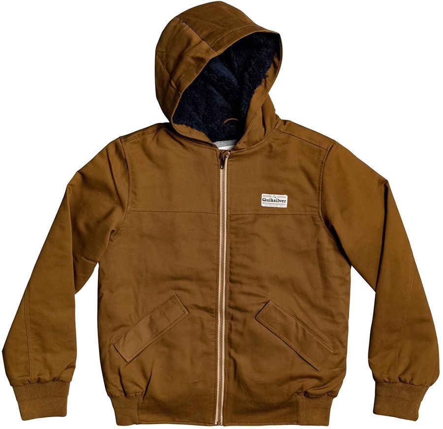 Quiksilver Clarendon Scot Kid's Casual Hooded Jacket, Age 11-12 Rubber