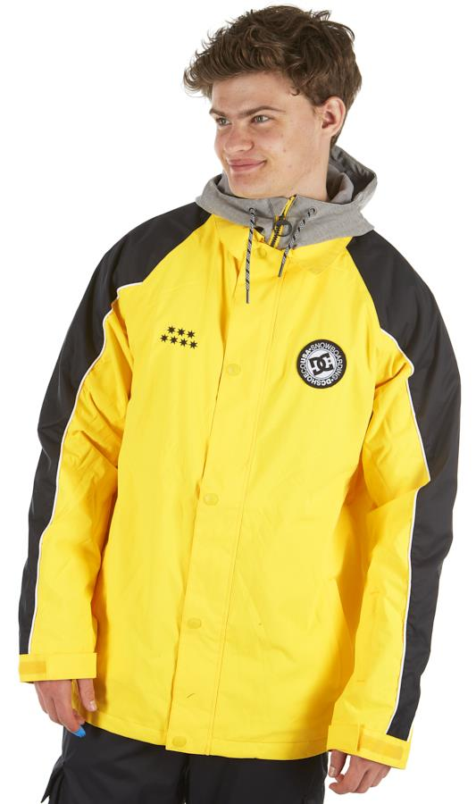 DC DCSC Coaches Ski/Snowboard Insulated Jacket, M Lemon Chrome