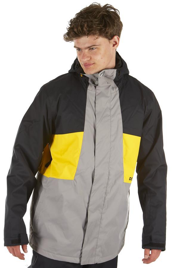 DC Defy Ski/Snowboard Insulated Jacket, L Frost grey