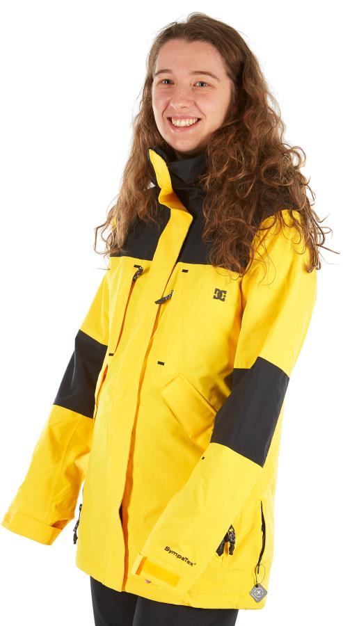 DC Sovereign Women's Ski/Snowboard Insulated Jacket, M Lemon Chrome