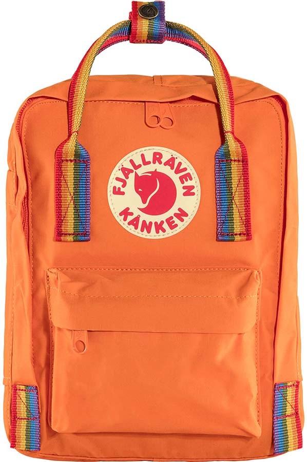 Fjallraven Kanken Mini Rainbow Daypack/Backpack, 7L Burnt Orange