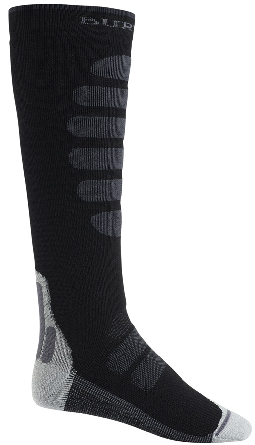Burton Performance+ Midweight Merino Ski/Snowboard Socks, M Black