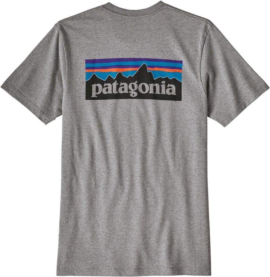 Patagonia P-6 Logo Responsibili-Tee Men's T-Shirt, S Gravel Heather