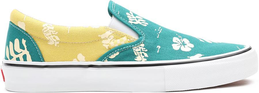 Vans Skate Slip-On Aloha Trainers/Shoes, UK 9.5 Marine/Gold