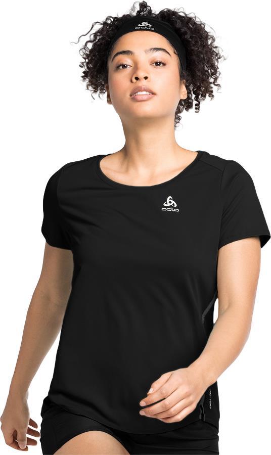 Odlo Zeroweight Chill-Tec Women's Running T-Shirt, UK 4-6 Black