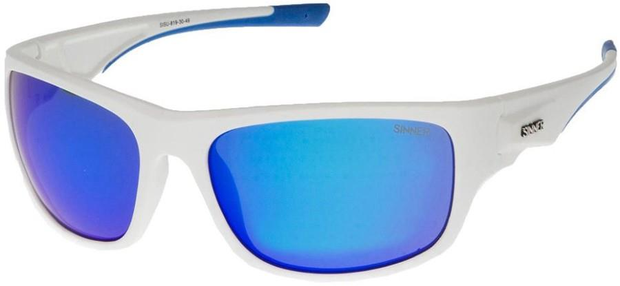 Sinner Adult Unisex Bruno Sports Icy Blue Oil Wrap Around Sunglasses, M White