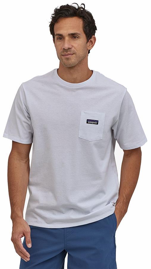 Patagonia P-6 Label Pocket Responsibili-Tee Men's T-Shirt S White