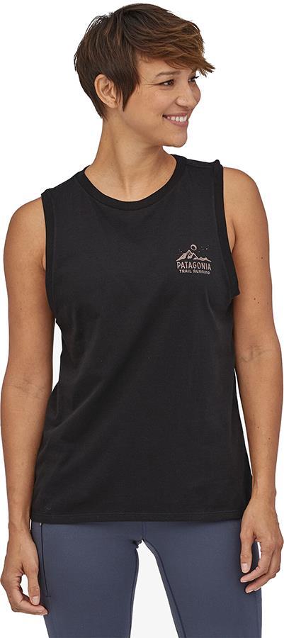 Patagonia Ridgeline Runner Organic Tank Top Vest, UK 12 Black